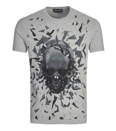 Grey Logo Print T-Shirt