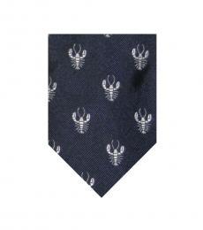Navy-Silver Modish Tie