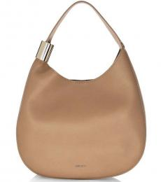 Jimmy Choo Beige Stevie Large Hobo
