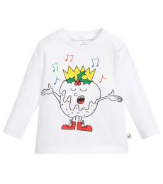 Stella McCartney Baby Boys White Christmas T-Shirt