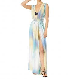 Multi color Overlap Maxi Dress Cover-Up