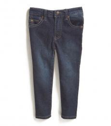 DKNY Little Boys Blue Depth Stretch Twill 5-Pocket Jeans