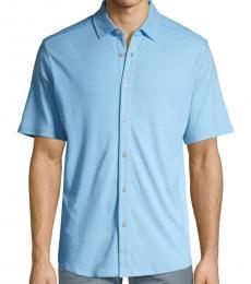 Light Blue Short-Sleeve Shirt