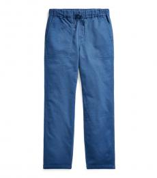 Ralph Lauren Little Boys Federal Blue Tapered Stretch Pants