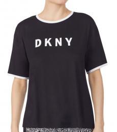 Black Logo Pajama T-Shirt
