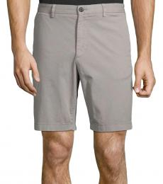Theory Grey Stretch-Cotton Shorts
