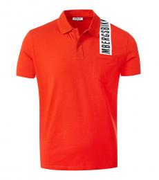 Bikkembergs Orange Logo Shoulder Polo
