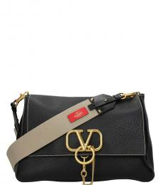 Valentino Garavani Black Logo Large Crossbody