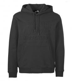 Love Moschino Black Embossed Logo Hoodie