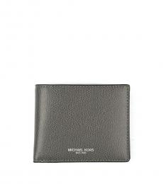 Michael Kors Grey Slim Billfold Bifold Leather Wallet
