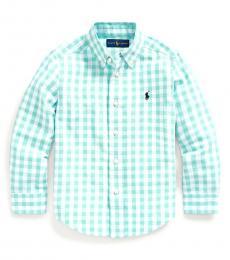 Ralph Lauren Little Boys Light Mint Gingham Shirt