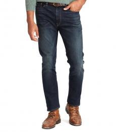 Ralph Lauren Dark Blue Hampton Relaxed Straight Jeans
