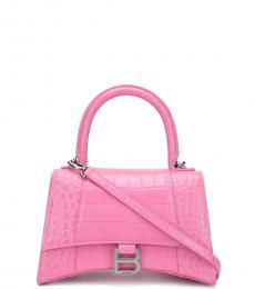 Balenciaga Pink Hourglass Small Satchel