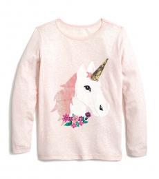 J.Crew Little Girls Light Pink Unicorn T-Shirt