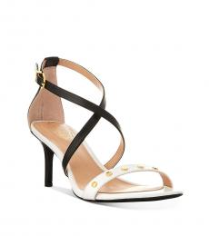 Ralph Lauren Black White Leaton Dress Heels