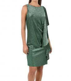 Just Cavalli Green Glittered Dress