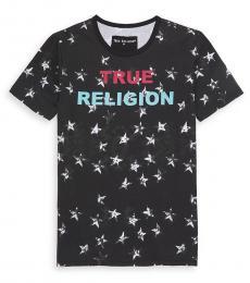 True Religion Boys Black Shadow Star Logo T-Shirt