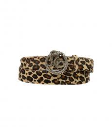 Just Cavalli Leopard Printed Belt