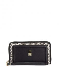 Juicy Couture Black Luxe Lock Wallet