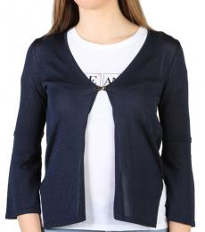 Armani Jeans Blue Open Front Cardigan