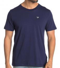 Navy Blue Front Logo T-Shirt