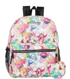 Betsey Johnson Floral Printed Medium Backpack