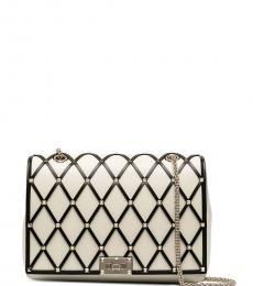 Valentino Garavani White Rockstud Medium Shoulder Bag