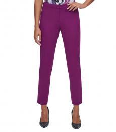 Calvin Klein Dark Purple Highline Skinny-Fit Pants