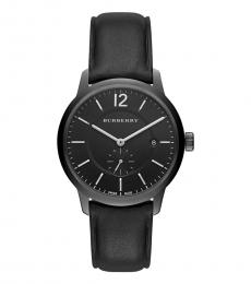 Burberry Black-Grey Classic Round Watch