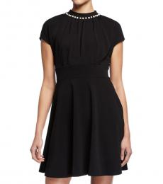 Kate Spade Black Pearl Pave Crepe Dress