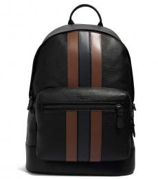 Coach Black Saddle/Midnight West Backpack