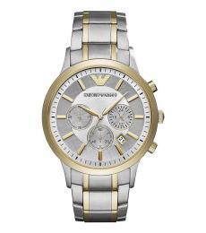Emporio Armani Silver Renato Dress Watch