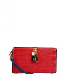 Dolce & Gabbana Red Blue Texture Box Clutch