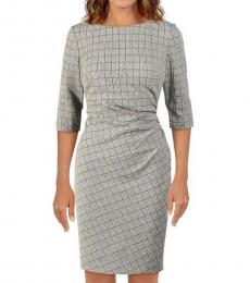 BlackWhite Cierra Houndstooth Dress