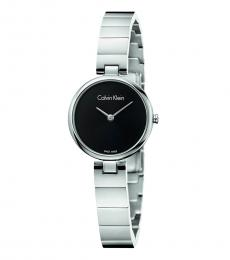 Calvin Klein Silver Black Dial Watch