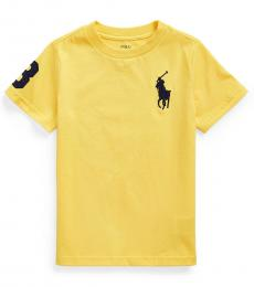 Ralph Lauren Little Boys Signal Yellow Big Pony T-shirt