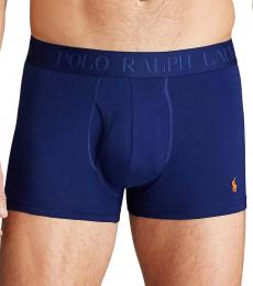 Ralph Lauren Navy Blue Flex 3-Pack Trunks