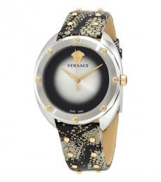 Versace Black Grey Shadov Watch