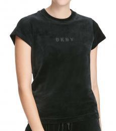 DKNY Black Boxy Short-Sleeve Tee