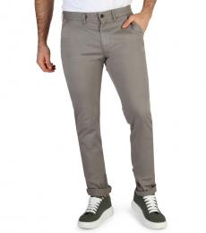 Calvin Klein Grey Solid Chino Pants