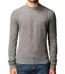 Dsquared2 Grey Solid Pullover Sweater