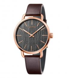 Calvin Klein Brown Even Quartz Watch