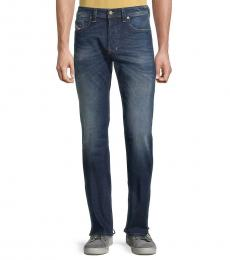 Dark Blue Larkee Straight Jeans