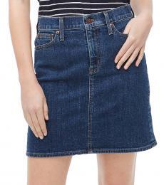 Denim Denim Mini Skirt