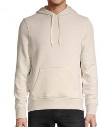 Michael Kors Beige Regular-Fit Cotton Hoodie