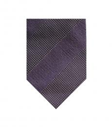 Tom Ford Dark Purple Tonal Striped Tie