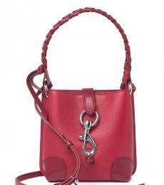 Rebecca Minkoff Red Megan Mini Bucket Bag