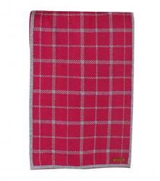 Coach Pink Tattersall Reversible Scarf