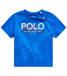 Ralph Lauren Baby Boys Pacific Royal Jersey Graphic T-Shirt