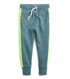 J.Crew Boys Alhambra Green Side Stripe Sweatpants